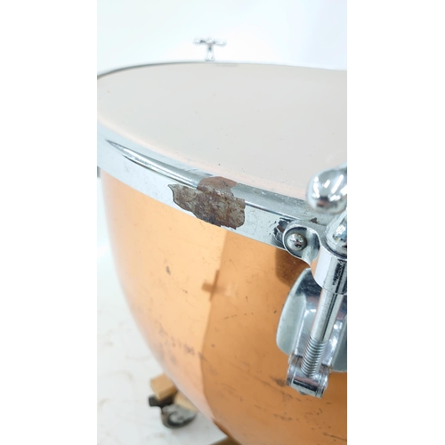 1228 - Pair of Premier hand tuned copper timpani drums, 28