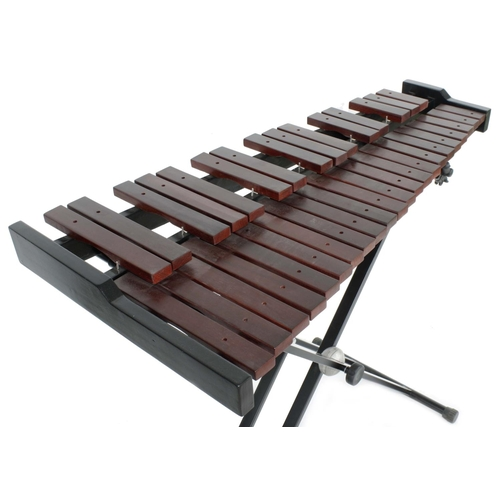 1241 - Contemporary Stagg xylophone on folding stand and with two beaters, 40