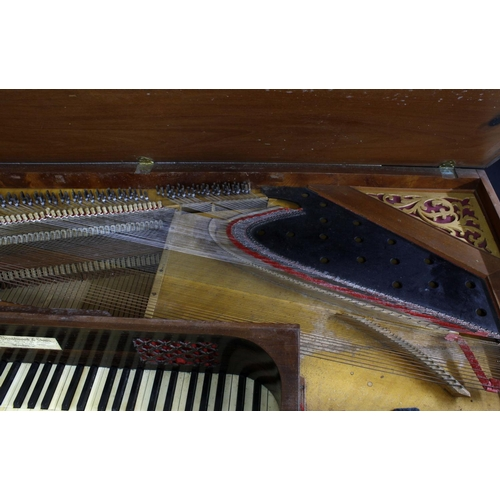 1248 - John Broadwood & Sons mahogany square piano, the rosewood fascia board inscribed 'John Broadwood...