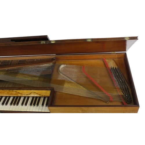 1249 - A square piano by Jacob Ball, London, 1788, inscribed on a boxwood plaque Jacobus Ball Londini fecit...