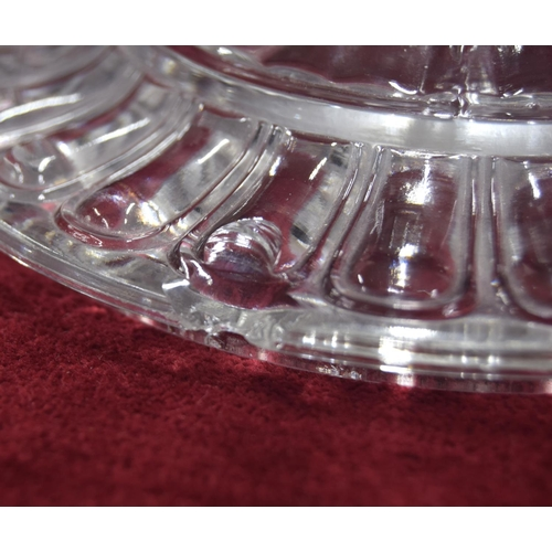 1011 - Baccarat clear and frosted glass bonbon dish and cover,with twin moulded elephant's head handles, t...