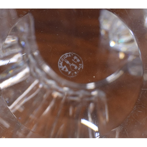 1012 - Baccarat cut-glass water jug and six tumbler glasses, etched marks, the jug 7