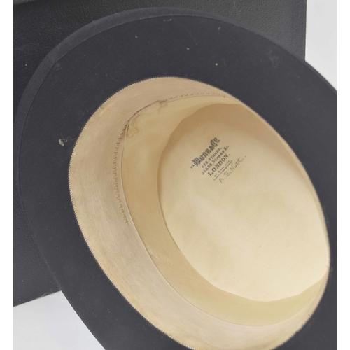 569 - G.A Dunn & Co. Limited - black silk gentleman's top hat,22