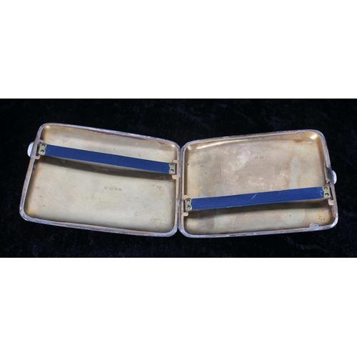 522 - Masonic interest - silver cigarette case with presentation inscription to the cover, inscribed 'W.M ...