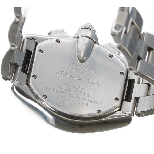 2 - Cartier Roadster automatic stainless steel gentleman's bracelet watch, ref. 2618, serial no. 3546xxx...