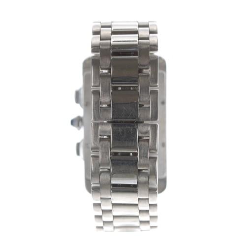 8 - Cartier Tank Americane 18ct white gold gentleman's bracelet watch, ref. 2312, serial no. 101xxxCD, s...