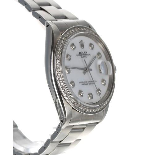 5 - Rolex Oyster Perpetual Date stainless steel gentleman's wristwatch, ref. 1501, serial no. 2049xxx, c...