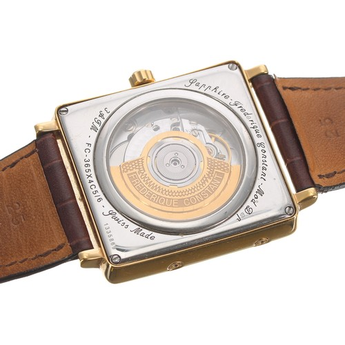 1 - Frederique Constant, Geneve Moonphase Calendar automatic gold plated calendar gentleman's wristwatch...