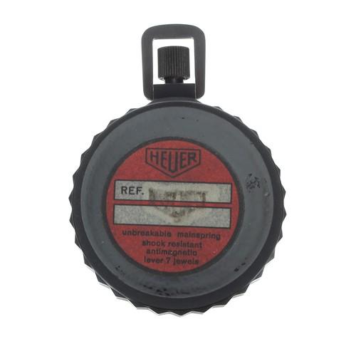 16 - Heuer stopwatch, 7 jewels, original label verso, 61mm