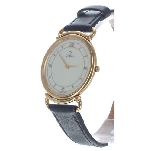 18 - Omega Quartz 18ct yellow gold gentleman's wristwatch, ref. 191746, circa 1982, serial no. 45296123, ...