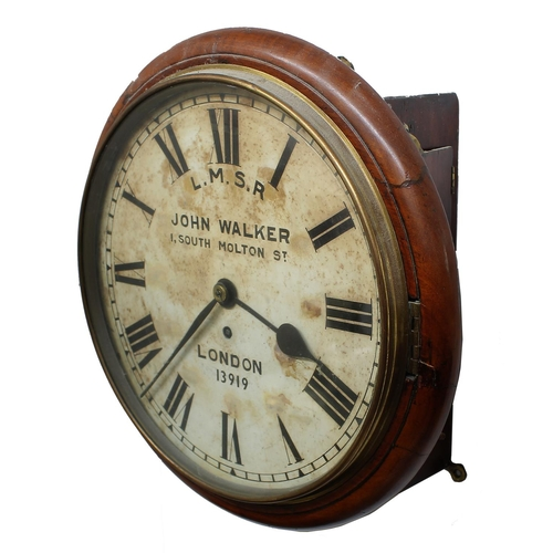 1012 - London, Midland and Scottish Railway (L.M.S.R) mahogany single fusee 12