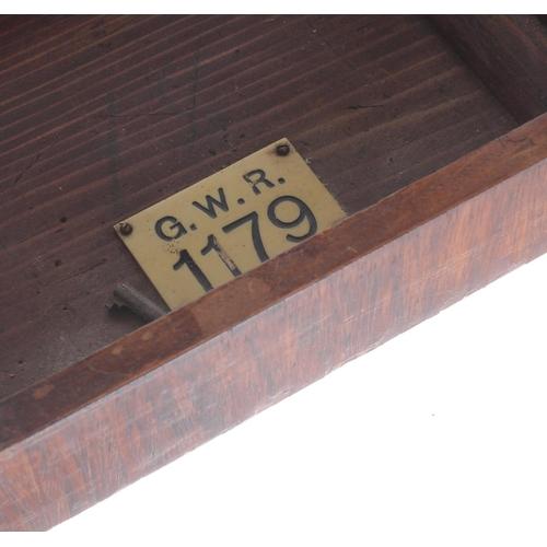 1024 - Great Western Railway (G.W.R) rosewood single train mantel clock with Lenz Kirchmovementstamped 10...
