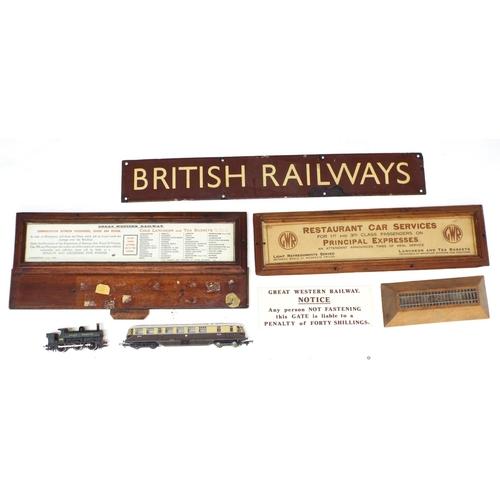 1041 - Old 'British Railways' metal sign, 27