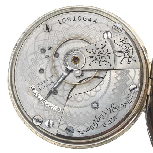 1001 - London, Midland and Scottish Railway (L.M.S.) Elgin nickel cased lever pocket watch, circa 1904, sig...
