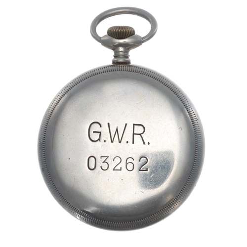 1003 - Great Western Railway (G.W.R.) Limit No.2 nickel cased lever pocket watch,signed movement with comp...