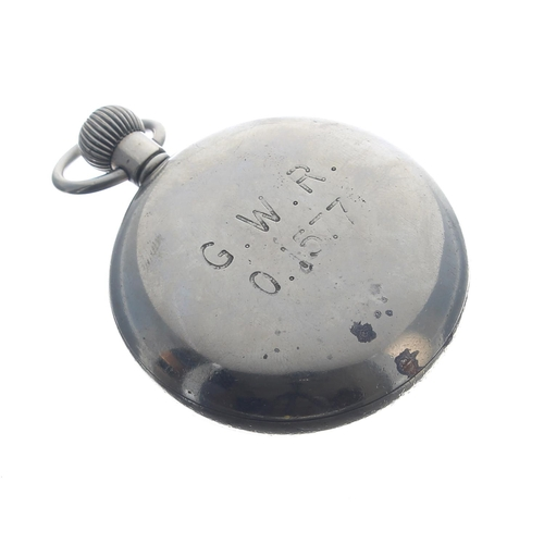 1004 - Great Western Railway (G.W.R.) Record nickel cased lever pocket watch,signed 15 jewel movement with...