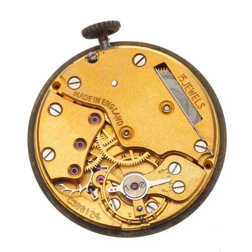 1007 - British Railway (B.R.) Midland Region Smiths De Luxe 9ct gentleman's wristwatch, Birmingham 1957, ci...