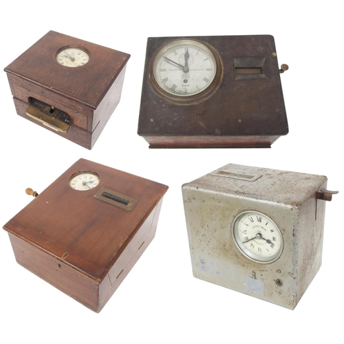 1403 - Rare Kosmoid Patented time recorder, the 5.5