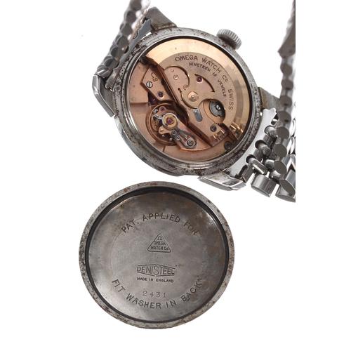 1 - Omega Seamaster automatic stainless steel gentleman's wristwatch, ref. 2431, serialno. 15114xxx,ci...