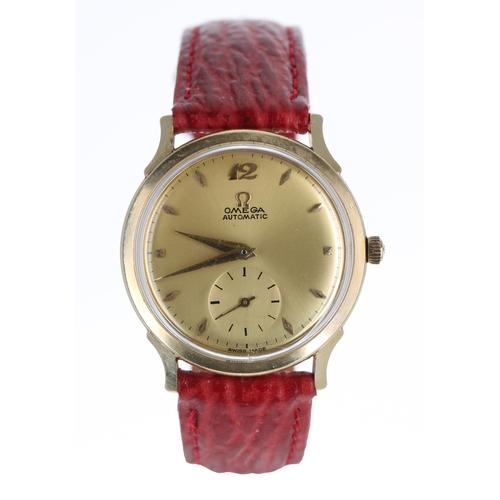 2 - Omega 14k gold filled automatic 'bumper' gentleman's wristwatch, ref. F-6251, serial no. 13855xxx, c...