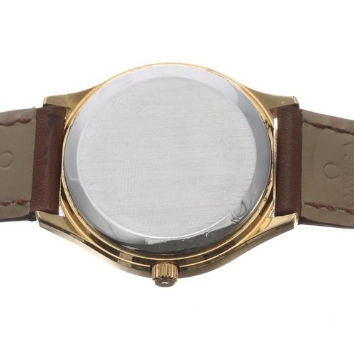 4 - Omega De Ville Quartz gold plated gentleman's wristwatch,circa late 1970s, champagne dial with bato...