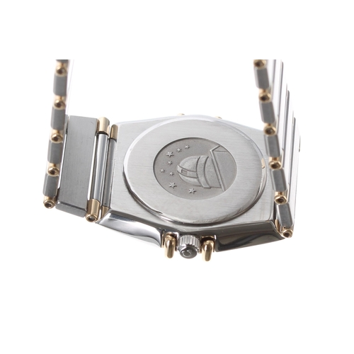 6 - Omega Constellation gold and stainless steel lady's wristwatch,ref. 79510801, white dial, quartz, 2...