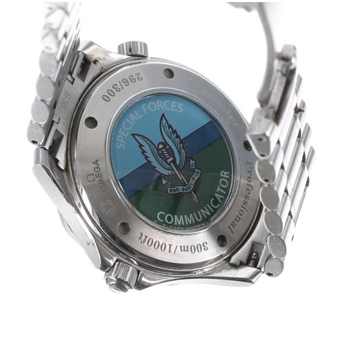16 - Omega Seamaster Professional 'Special Forces Communicator' stainless steel gentleman's wristwatch,r...