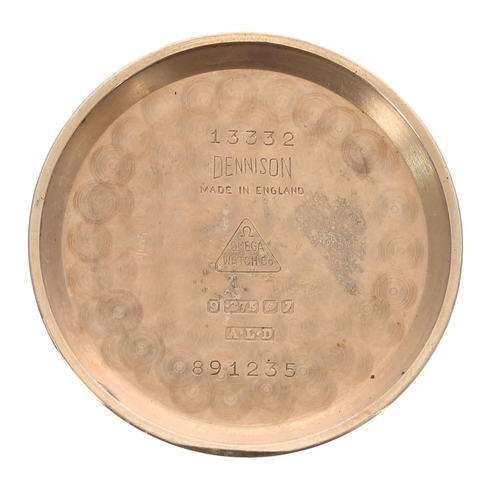 22 - Omega Genéve 9ct gentleman's wristwatch, serial no. 16627xxx, Birmingham 1958, champagne dial with a...