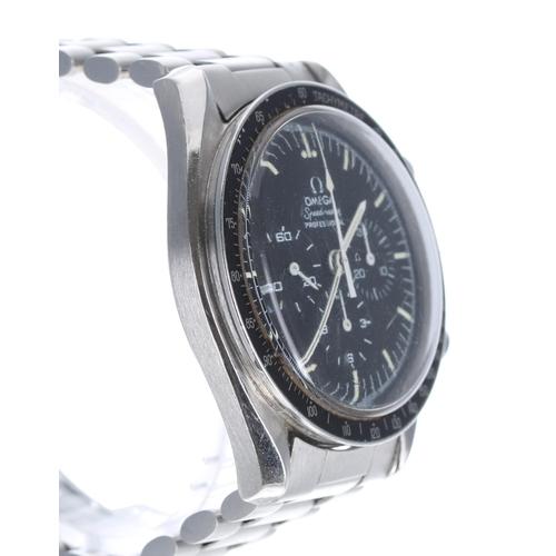 26 - Omega Speedmaster Professional 'Moon' chronograph stainless steel gentleman's wristwatch, ref. ST 14...