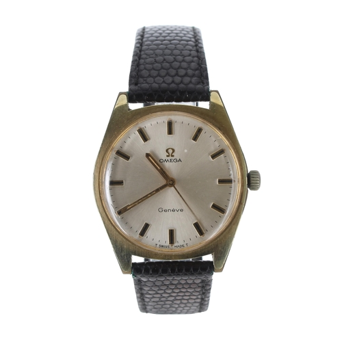 34 - Omega Genève gold plated and stainless steel gentleman's wristwatch, ref. 135.041, serial no. 30831x...