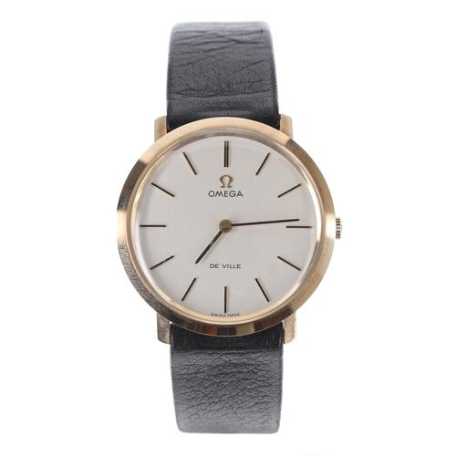 42 - Omega De Ville 9ct gentleman's wristwatch, case ref. 1115067, serial no. 33443xxx, circa 1971, signe...