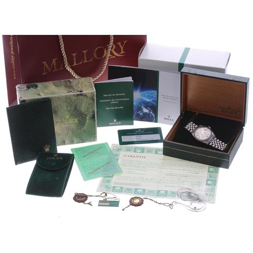 51 - Rolex Oyster Perpetual Datejust stainless steel gentleman's wristwatch, ref. 16030, serial no. 7337x...