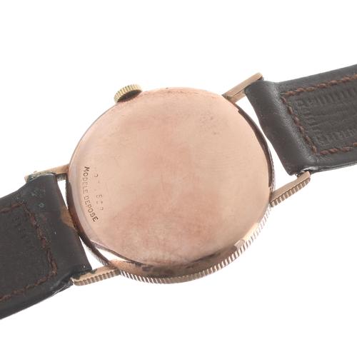 56 - Rolex Precision 9ct gentleman's wristwatch, ref. 3923, serial no. 274xxx, circa 1944, signed silvere...