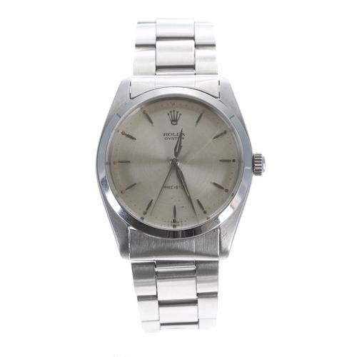 59 - Rolex Oyster Precision stainless steel gentleman's wristwatch, ref. 6424, serial no. 1199xxx, circa ...