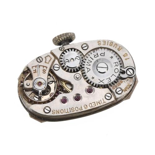 60 - Attractive Rolex Art Deco platinum and diamond set lady's cocktail watch,case serial no. 192xxx, si...