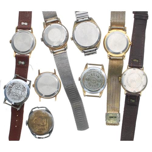 505 - Selection of gentleman's wristwatches to include Sekonda, Timex, Eden-Matic, Rodania, Roma, Leno, Ba...