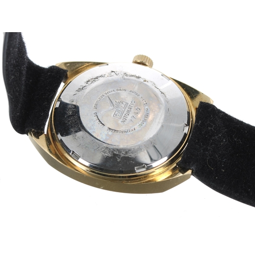 519 - Camy Geneva Superautomatic gold plated and stainless steel gentleman's wristwatch, ref. 7740, circul...