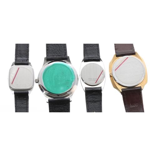 521 - Tissot Seastar Quartz stainless steel gentleman's wristwatch, Tissot black leather strap, 35mm (tag)...