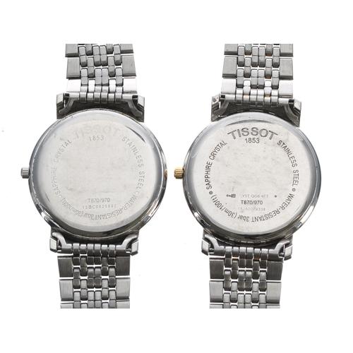 528 - Two Tissot quartz gentleman's dress wristwatches (2)
