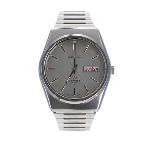 532 - Seiko Quartz 4004 stainless steel gentleman's wristwatch, ref. 0903-8169, 36mm-** with Seiko box, bo...