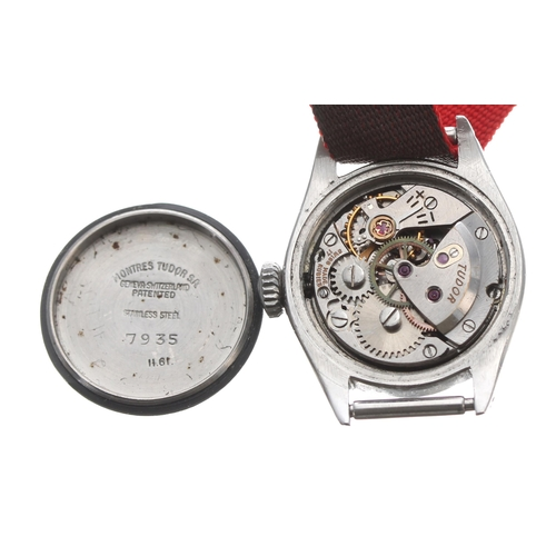 540 - Tudor Oyster Royal stainless steel lady's wristwatch, ref. 7935, serial no. 263xxx, silvered dial, 1...