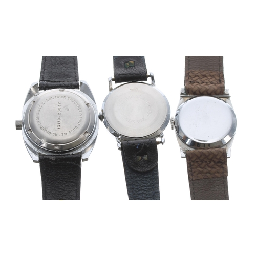 548 - Buler vintage digital stainless steel gentleman's wristwatch, ref. 13179-23032, circa 1970s, black s...