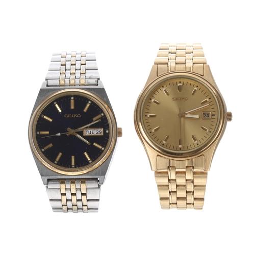 549 - Two Seiko quartz gentlemen's wristwatches in boxes