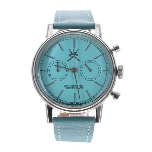550 - Undone 'The Urban' Steller Tiff Blue chronograph stainless steel gentleman's wristwatch, limited edi...
