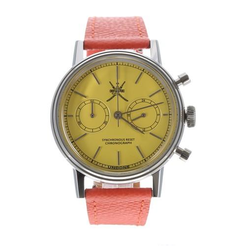 551 - Undone 'The Urban' Steller Yellow chronograph stainless steel gentleman's wristwatch, limited editio...