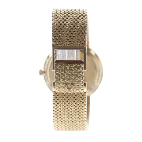 5 - Omega De Ville automatic 18ct gentleman's wristwatch, the gilded dial with baton markers and sweep c...