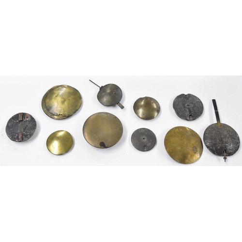 1443 - Small quantity of old longcase clock pendulum bobs (12)
