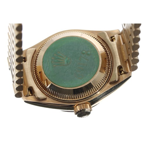 50 - Rolex Oyster Perpetual Datejust 18ct lady's bracelet watch, ref. 69178, serial no. E40xxxx, circa 19...