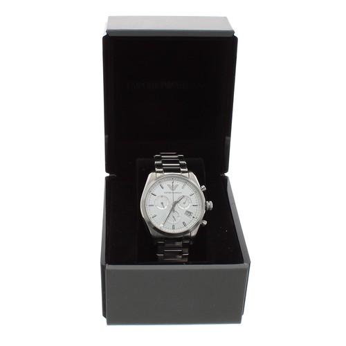 559 - Emporio Armani Sportivo Chronograph stainless steel gentleman's wristwatch in box,ref. AR-6013, qua...