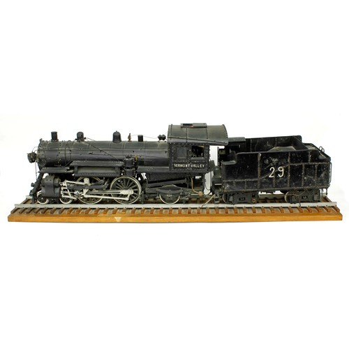 1057 - Good American engineering model of a Vermont Valley steam locomotive and tender,circa 1915, made fr...